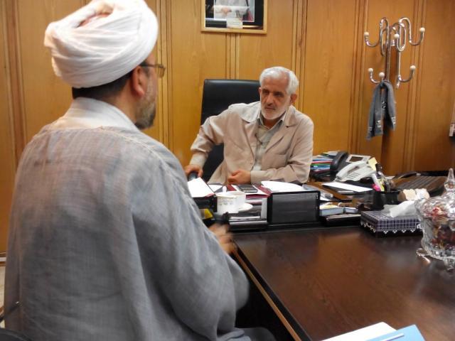 دیدار حجت الاسلام و المسلمین سینایی با سردار سروری